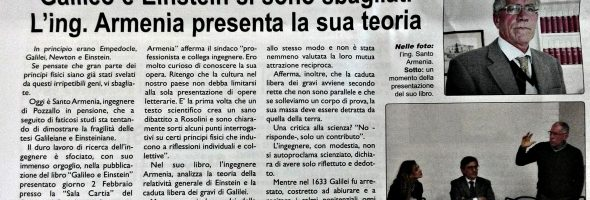 Corriere Elorino – Riferimento all'evento del 2 febbraio 2018 presso il Comune di Rosolini