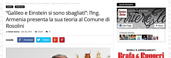 Corriere Elorino (on line) – 30 gennaio 2018